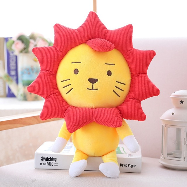 25cm/30cm/50cm Simulation Sunflower Lion Plush Toy Soft Cartoon Animal Lion Stuffed Doll Window Suction Cup Pendant Kid Gift