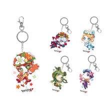 Porte-clé avec pendentif, cadeau pour femme, Emma Woods/ Fiona allemand/Willa Nair/Tracy Leznic/Amily Dair Cos identité V Cosplay Anime Game