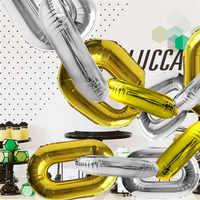 16 zoll Kette Gold Silber Aluminium Folie Ballon Bar Kommerziellen Shop-Layout-Dekoration Liefert Eisen Folie Ballon