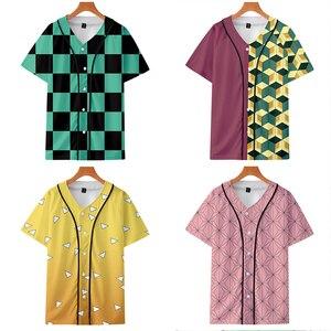 Image 1 - T shirt Cosplay de lanime Demon Slayer, Costume Kimetsu No Yaiba Tanjiro Kamado pour homme, grande taille, vestes pour fête dhalloween, CS016