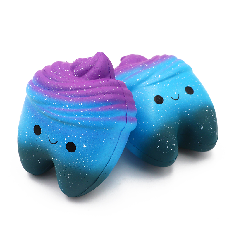 1pc Dental Teeth Shape Squeeze Gift Cute Cartoon Slow Rising Hand Spinner Stretchy Relax Squishy Toy Tooth Pendant Dentist Gift
