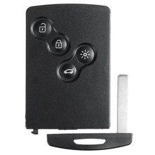 4 смарт-карта с кнопками Автомобильный ключ 433 МГц PCF7952 Чип дистанционного ключа для Renault Megane 3 2009