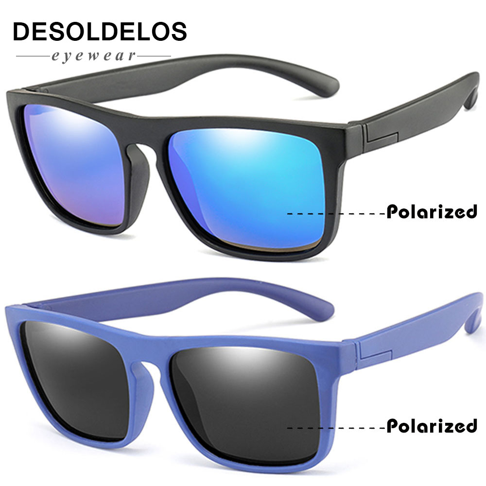 New Fashion Kids Polarized Sunglasses Brand Design Boys Girls Square Sun Glasses UV400 Child Shades Eyewear Oculos De Sol Gafas