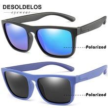 New Fashion Kids Polarized Sunglasses Brand Design Boys Girls Square Sun Glasses