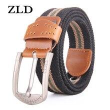 ZLD Fashion new alloy fibbia ad ardiglione cintura in tela cintura da uomo cintura casual da uomo cintura da studente cintura ipoallergenica da donna