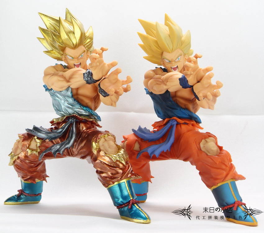 Bandai Metal Coloring Super 1 GoTurtle qigong Sun Wukong Super Saiyan Handmade Gift