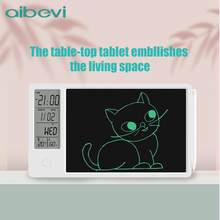 Aibevi 10 Polegada almofada de desenho temperatura e umidade display calendário eletrônico lcd escrita tablet doodle placa tipo-c de carregamento
