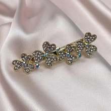 Роскошные плотные заколки для волос с кристаллами в виде клевера