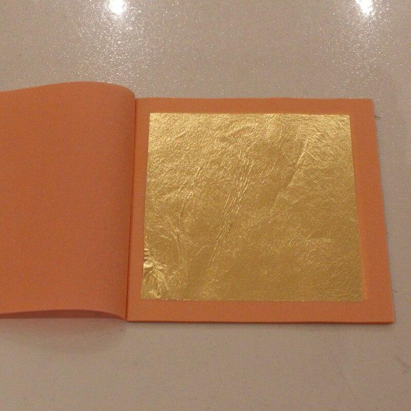 24K Edible Gold Leaf Sheet 25 Leaves/Booklet Foil 8 X 8cm Gilding For Food Edible Cake Decoration Facial Mask Arts Craft Paper