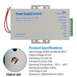 Image 2 - DC12V 5A التحكم في الوصول امدادات الطاقة تحكم التبديل AC90V 260V المدخلات مع تأخير الوقت لمدة 2 أقفال إلكترونية نظام اتصال داخلي