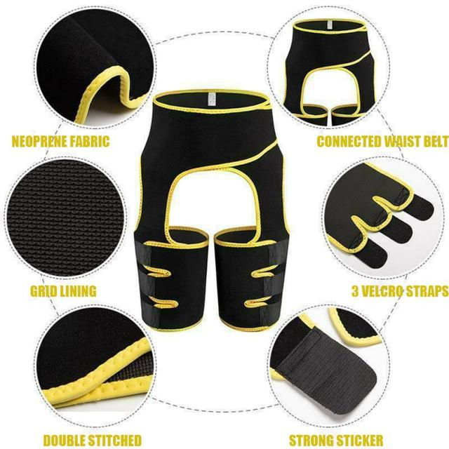 Neoprene Slim Thigh Trimmer Leg Shaper Women Tummy Control High Waist Trainer Sauna Effect Shapewear Butt Lifter Belt Body Shape 3