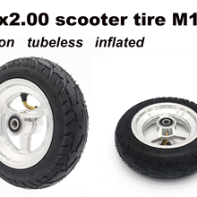 8x2.00-5  M10 inch tire non-slip tubeless tires parts of electric scooter motorcycle nylon wheel and alloy hub with inflated