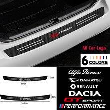 Carro de fibra carbono tronco proteção etiqueta para mercedes benz amg glc gle e cla gla w205 w213 acessórios decorativos automóveis