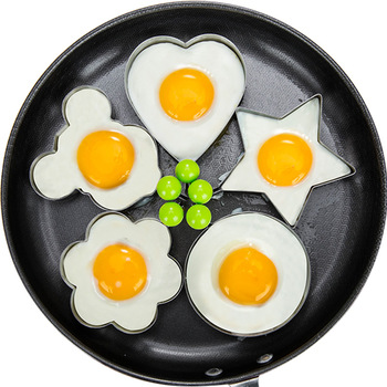 Stainless Steel 5Style Fried Egg Pancake Shaper Omelette Mold Mould Frying Egg Cooking Tools Kitchen Accessories Gadget Rings image
