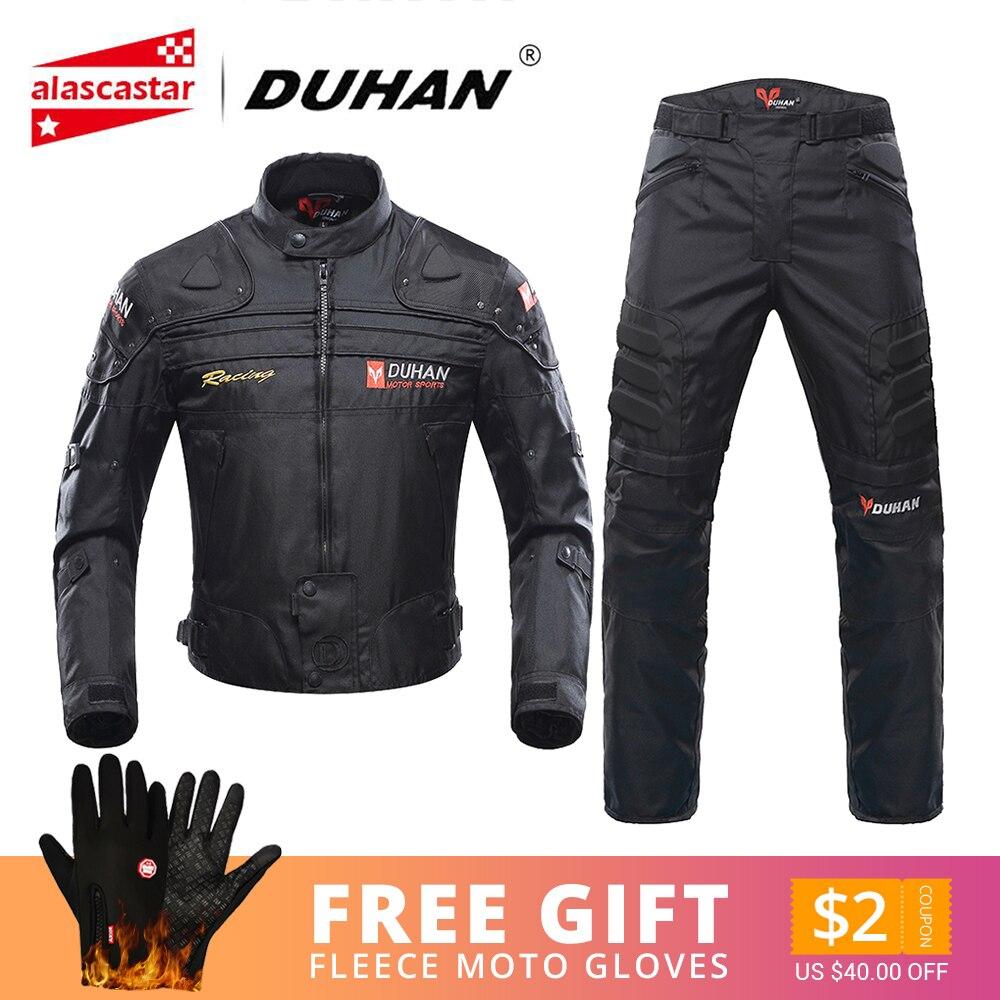 Duhan motocicleta jaquetas homens equitação motocross enduro corrida jaqueta moto à prova de vento coldproof moto roupas proteção