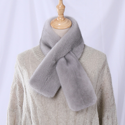 Highend Quality Unisex Women's Winter 100% Real Mink Fur Scarf Double-sided Scarves Men's Wraps Neckwarmer Mufflers Real Fur