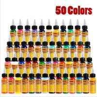 Tattoo Pigments 50 Colors Natural Color Tattoo Ink Natural Plant Makeup Tattoos Ink Pigment Body Art Painting Gifts