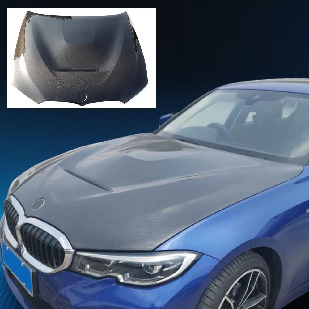 Carbon Fiber Engine Hood Bonnet Lid For 3 Series G20 G21 Sedan Touring M340i 330i 330e 320i 328i 2019 2020