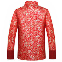 Rode Zijde Jas Mannen Herfst Draak Cheongsam Tops Plus Size 4XL Traditionele Chinese Kleding Tang Pak Jas 2020(China)