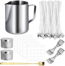 Kits de fabricación de velas para adultos y principiantes, herramientas de manualidades DIY, soporte para macetas, mechas, pegatinas para velas