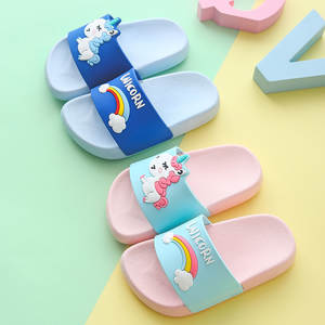 2019 Summer Boy Girl Cartoon Shoes Todder Animal Kids Indoor Baby Flip Flops Pvc Infant Beach Casual Slippers Soft