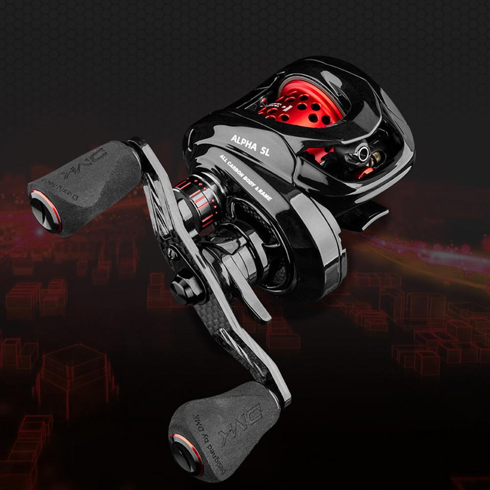6.5/9.1 Speed Ratio ALPHA SL Fishing Reel Bait Casting Ultralight Carbon Fiber Baitcast Dual Brake Low-Profile Reel