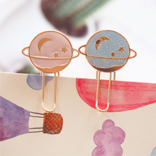 1 Pcs Creative Star Planetary Metal Bookmark Book Notebook Paper Clip School Office Supply Stationery