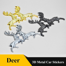 цена на 1pcs High Quality 3D metal Safe journey Deer sticker rear Trunk badge Grill Car Styling For AUDI BMW Mercedes Benz volkswagen