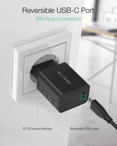 Image 4 - BlitzWolf BW S12 27W QC4+ QC4.0 QC3.0 PD Type C Port EU AU USB Charger for universal Mobile Phone