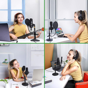 Image 4 - MAONO Kit de micrófono USB de 192KHZ/24 bits para ordenador, condensador de AU A04T, Podcast, Streaming, Plug & Play, micrófono para YouTube y juegos