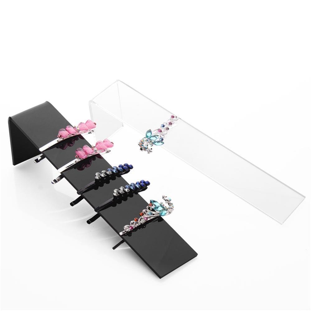 Headwear Display Rack Acrylic Hair Clip Hairpins Headband Shape Holder Display Stand Organizer Hair Pins Accessories