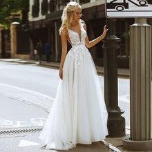 Изысканное ТРАПЕЦИЕВИДНОЕ ПЛАТЬЕ безрукавные Свадебные платья