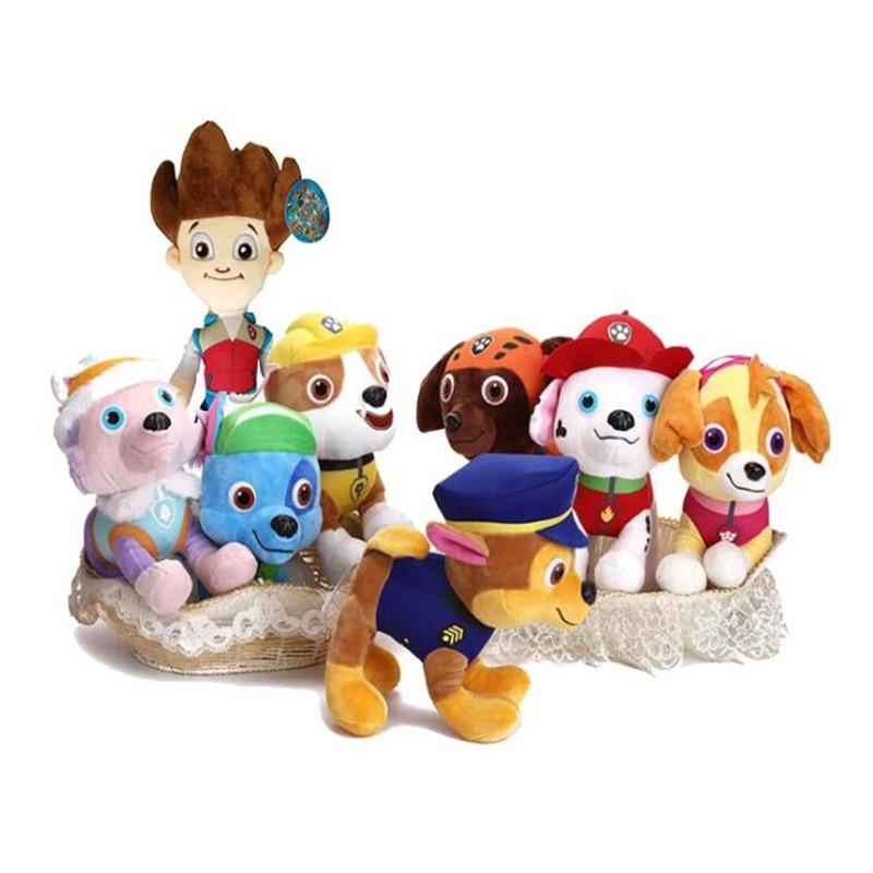 30 CM Paw Patrol Dog Puppy Captain Ryder Stuffed Doll Plush Toys For Children Birthday Gifts