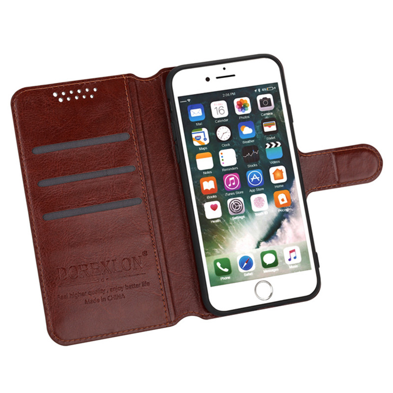 Luxury Retro PU Leather Flip Case For <font><b>Homtom</b></font> HT16 HT <font><b>16</b></font> 5.0 inch Wallet Stand Leather Case Cover for <font><b>Homtom</b></font> HT16 5.0 inch image