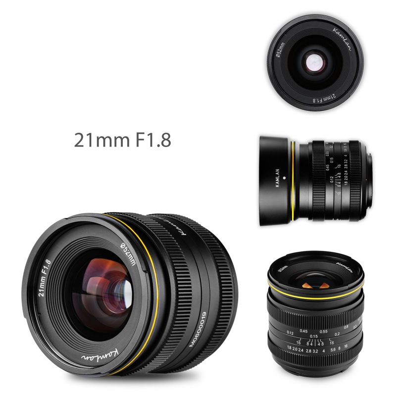 Купить с кэшбэком KamLan 21mm F1.8 APS-C Aperture Manual Focus Lens For Olympus For Panasonic M43-Mount