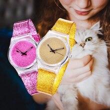 2019 Hot Kids Quartz Watch Girls Boys Gift Plastic Fluorescent Watch