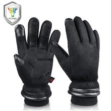OZERO мужские рабочие перчатки мужские s Водонепроницаемые зимние перчатки с сенсорным экраном пальцы ветрозащитные тепловые в холодную погоду безопасные рабочие 9013A