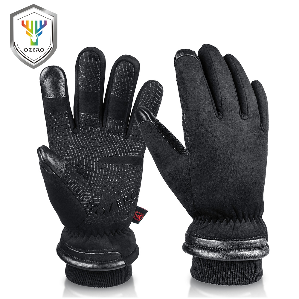OZERO Men's Work Gloves Mens Waterproof Winter Gloves Touch Screen Fingers Windproof Thermal in Cold Weather Safety Working 9013A