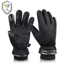 OZERO גברים של עבודה כפפות Mens עמיד למים חורף כפפות מגע מסך אצבעות Windproof תרמית קר מזג אוויר בטיחות עבודה 9013