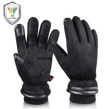 OZERO قفازات العمل الرجالية المقاومة للماء قفازات الشتاء شاشة تعمل باللمس أصابع مقاومة للرياح الحرارية في الطقس البارد سلامة العمل 9013