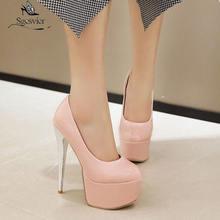 Sgesvier/женские туфли лодочки на платформе и каблуке шпильке;