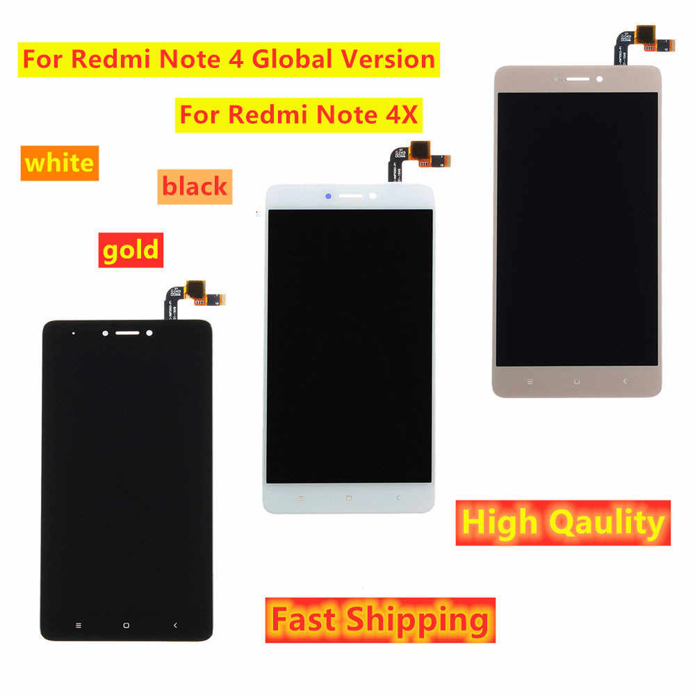 "5.5 ""Lcd Display Voor Xiaomi Redmi Note 4X / Note 4 Global Versie Touch Screen Digitizer Vergadering Met Frame voor Snapdragon 625"