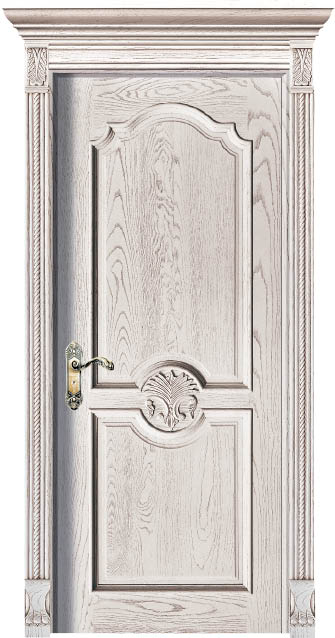 Customized Solid Wood Interior Door  Luxury Carving Designs Thailand Oak Solid Timber Doors C021