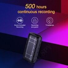 Xixi spy 500 horas micro gravador de voz ditaphone caneta áudio som mini ativada digital profissional flash drive