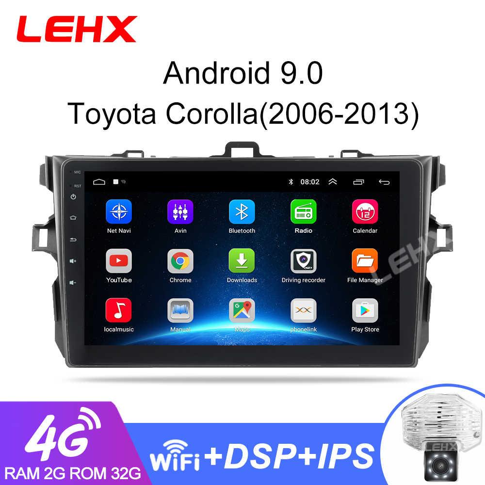Lehx 2Din Android 9.0 Auto Radio Reproductor Multimedia Para Toyota Corolla E140/150/2006-2013, 2Din
