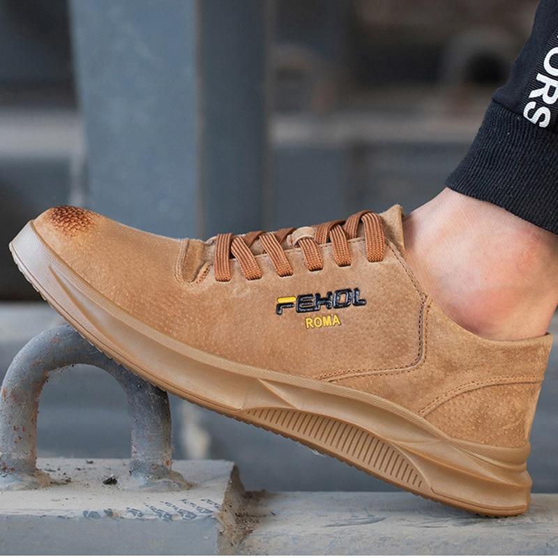 Image 3 - 38 45 мужская защитная обувь, противоскользящие мужские рабочие ботинки для выживания в пустыне со стальным носком # KDDK601Защитная обувь   -
