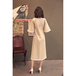 Image 5 - 2020 Vestido De Debutante Cheongsam 2020 Summer New Modified And Linen Robe Young Girl Students Cute Little Sweet Wind Clothing