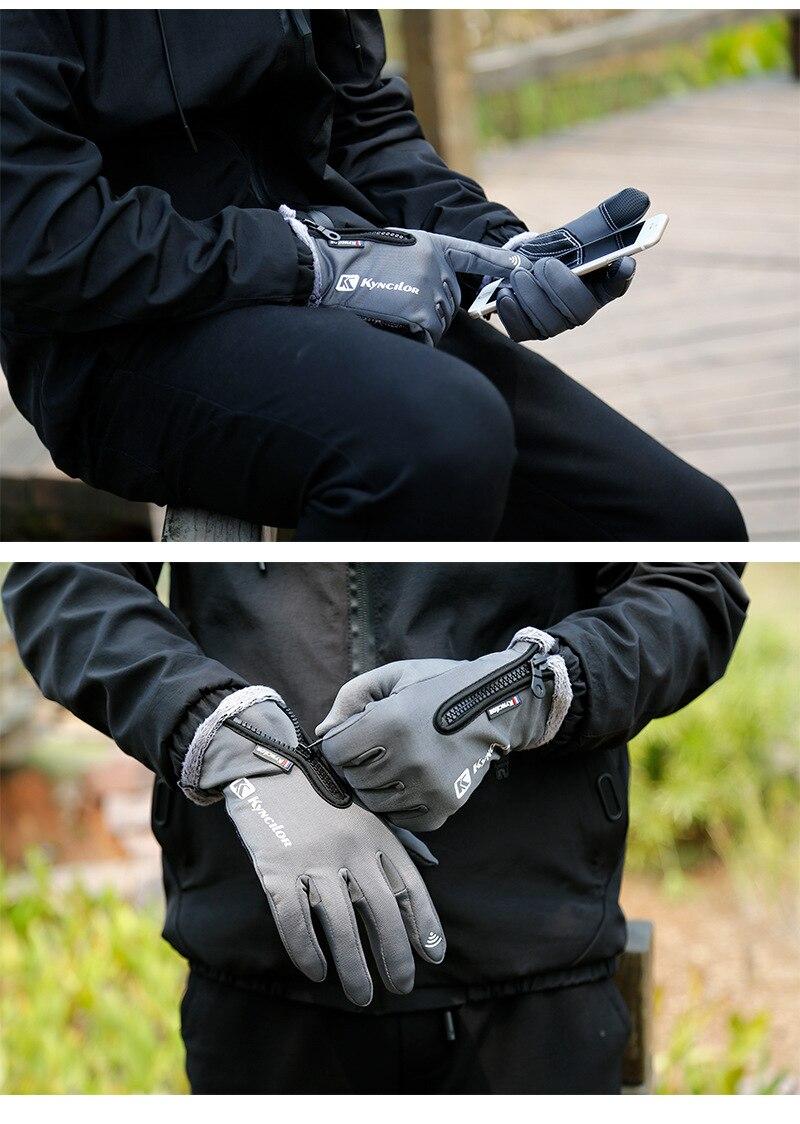 zip esportes equitação luvas quentes anti-deslizamento toque luvas masculinas