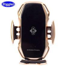 Двухточечное умное Индукционное Беспроводное зарядное устройство, автомобильное крепление 10 Вт, держатель быстрой зарядки для Samusng S10/10 +/9/8 Note9 Iphone XS XR XS MAX Qi
