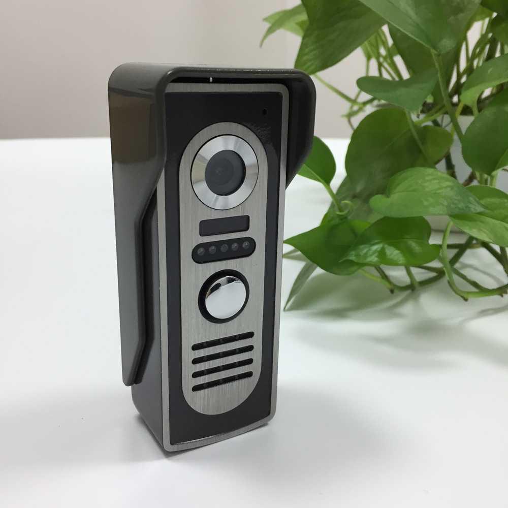 """7 """"sistema de vídeo porteiro campainha visão noturna ir 800tvl câmera à prova d800água desbloquear para casa segurança com fio telefone da porta vídeo"""